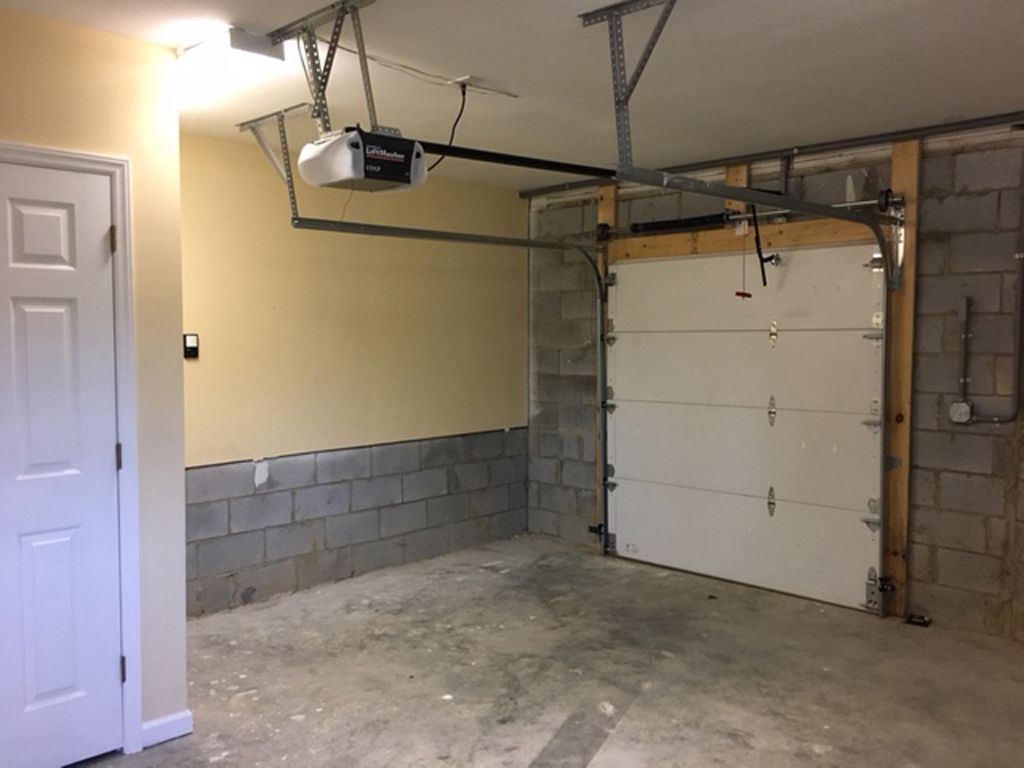 Basement Level Golf Cart Garage And Shop Area